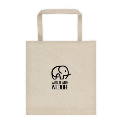 World With Wildlife Tote Bag of Premium Cotton