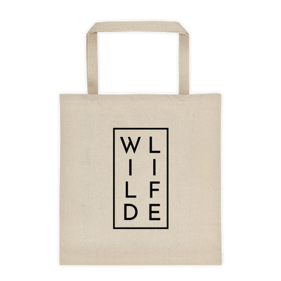 WILDLIFE Tote Bag White Premium Cotton – World With Wildlife