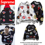 Nike x NBA x Supreme Men's Hip Hop Tops Spring And Autumn Summer Sweatshirts