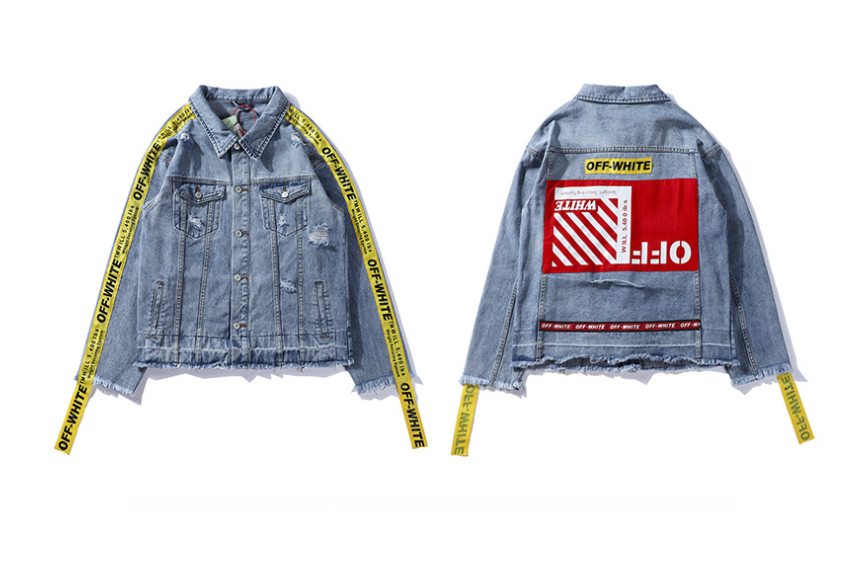 Brand off white jacket Autumn Winter kanye yeezus Men Women Denim Jacket super Vintage Loose Brand Jeans Coat Casual Girls Outwear ma1