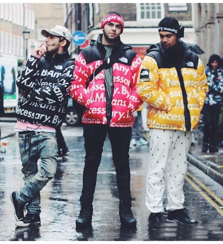 Supreme X North Face By Any Means Necessary Thick Winter Jacket
