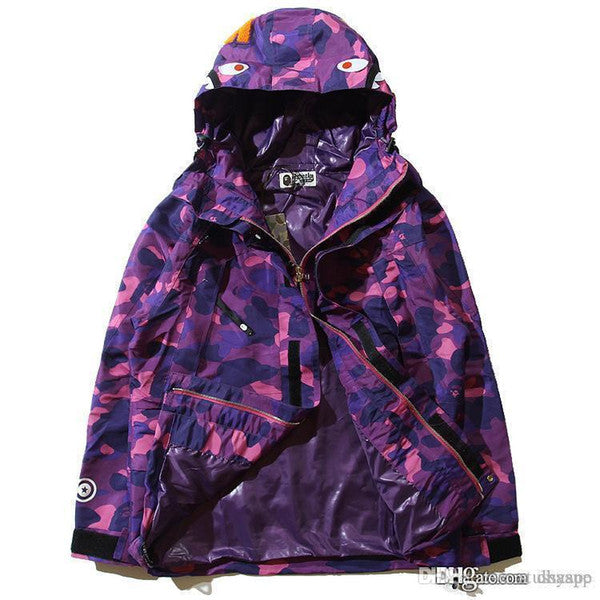 Newest Popular Camouflage Men's Hoodies Windbreaker Hoodies Fashion Cardigan Leisure Coat Popular Brand Japanese Lapel