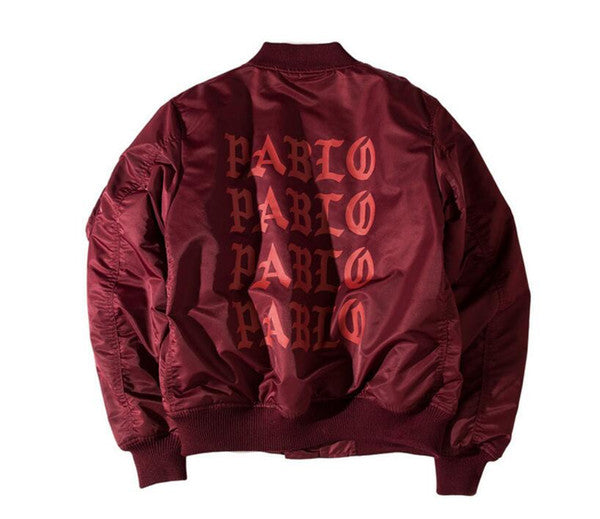 men Jackets Pablo Kanye West MA1 Bomber Jackets Men Women volne Pablo Winter thin Coats Bomber Men Jackets Brand