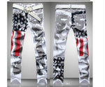 Plus size Fashion hot mens Designer Jeans men robin jeans Famous brand Denim with Wings American Flag