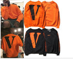Winter warm Off White VLONE Hoodies Men hoodie Sweatshirt High Quality Big V Off White VLONE Hoodies