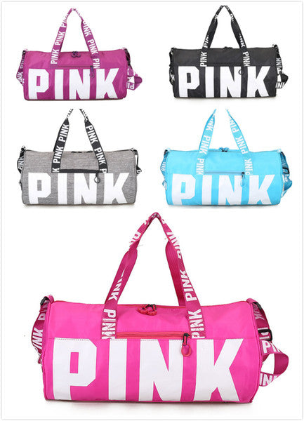 VS Pink Handbags Pink Letter Travel Bag VS Beach Handbag Duffle Large Capacity Waterproof Yoga Sports Shoulder Bags Large