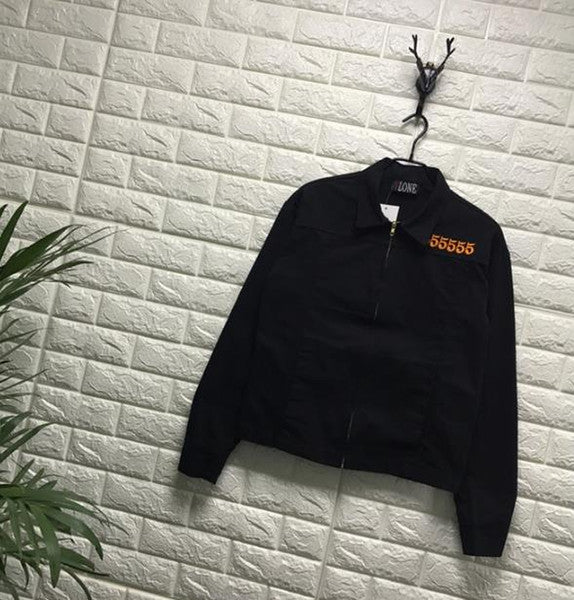 VLONE JAIL JACKET 555555 ASAP Europe and the United States tide brand big V embroidery men and women jackets couple simple coat tide