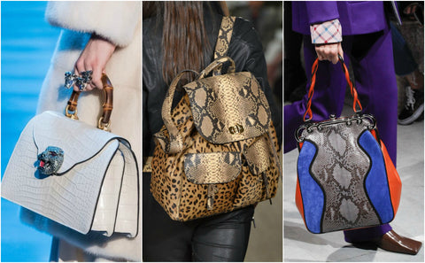 Designer Animal Print Bags AW/17 Trends