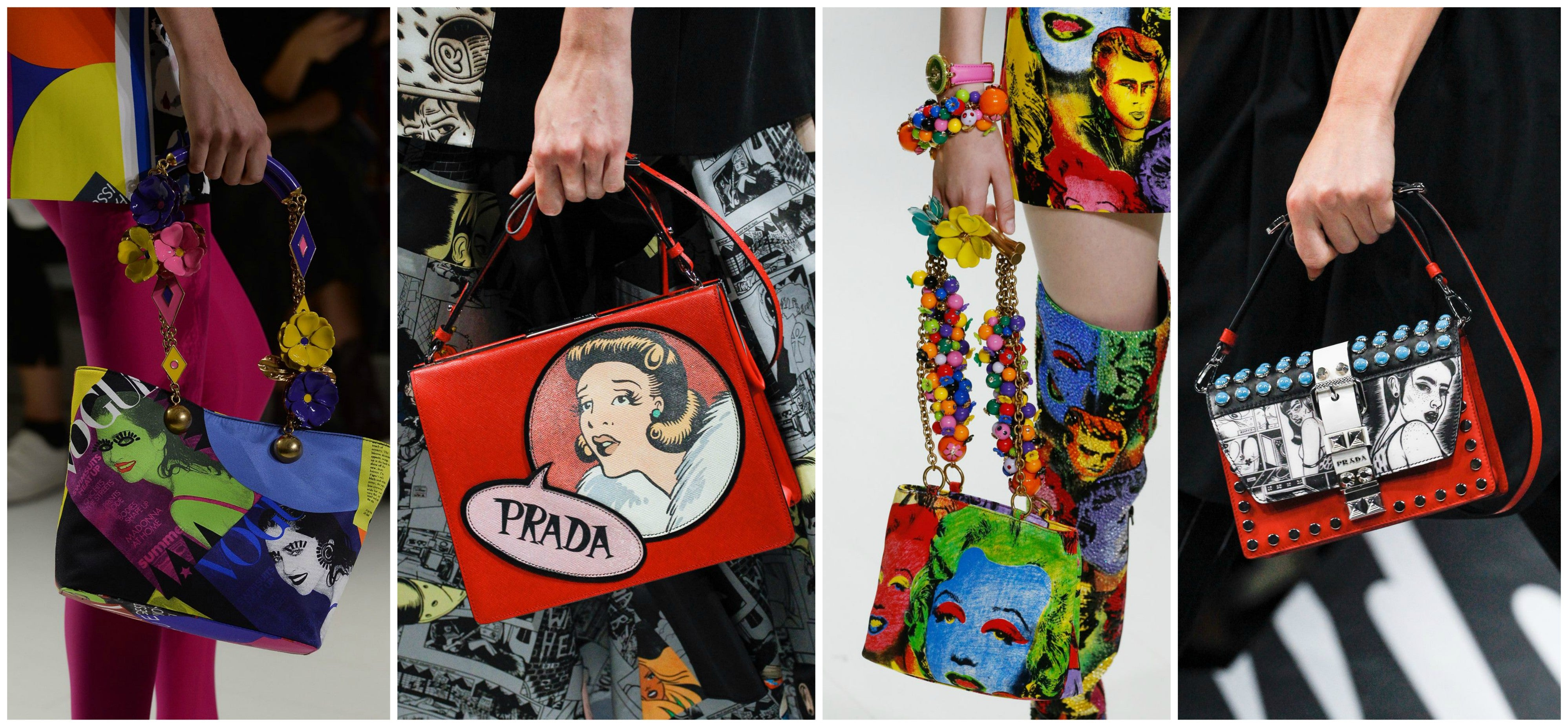 SS18 Milan Fashion Week Bag Trends Pop Art