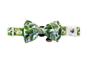 Collar & Bow Tie - Palms