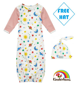 6a8c379501c Piccalilly Nightgown and Hat Set - Fly The Sky