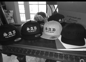 """SAD"" OG CDB X SNAPBACK BLACKonWHITE"