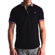 Men's Black - Paisley Turkey Slim Fit Mesh Polo Shirt ( Size - Only XS ) - Amedeo Exclusive