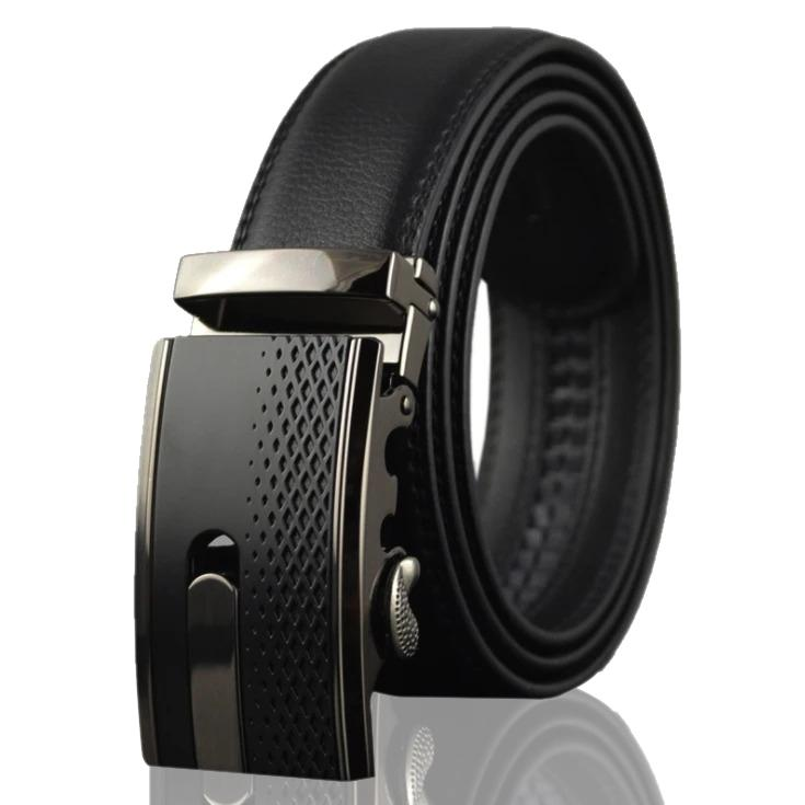 Amedeo Exclusive Men's Black Belt Black Buckle Leather