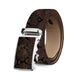 Men's Genuine Leather Smart Ratchet Automatic Belt Perfect Fit No holes! Brown - Amedeo Exclusive