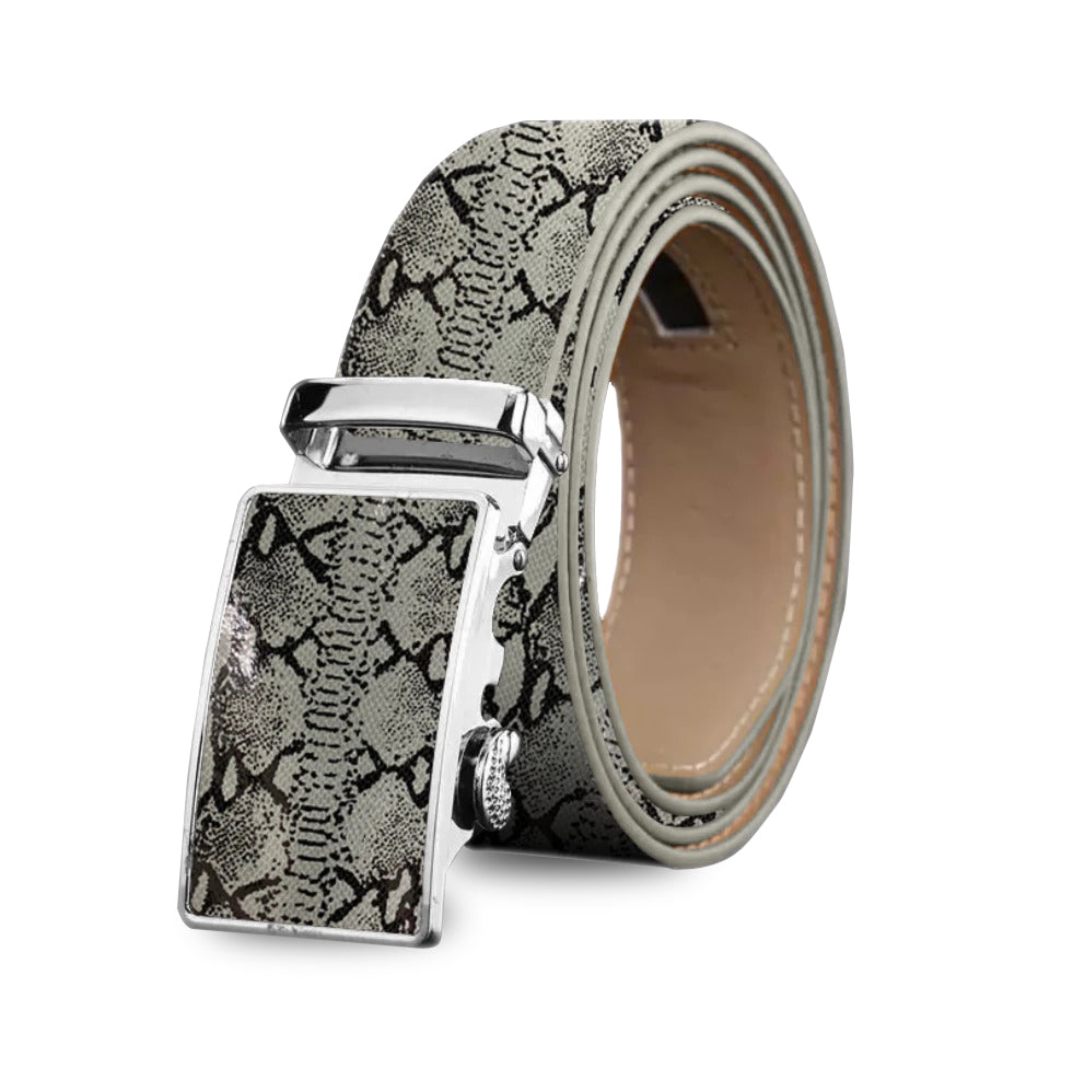 Perfect Fit No Holes Automatic Genuine Leather Buckle Belt For Men