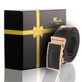 Men's Black Alligator Leather Automatic Belts