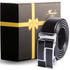 Amedeo Exclusive Men's Stainless Steel Black Belt - Silver & Black Buckle