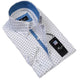 Men's European Reversible Tailor Fit Button Down Dress shirt White Black 100% Cotton - Amedeo Exclusive