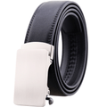 Men's Black Belt - Silver Buckle Standard Leather