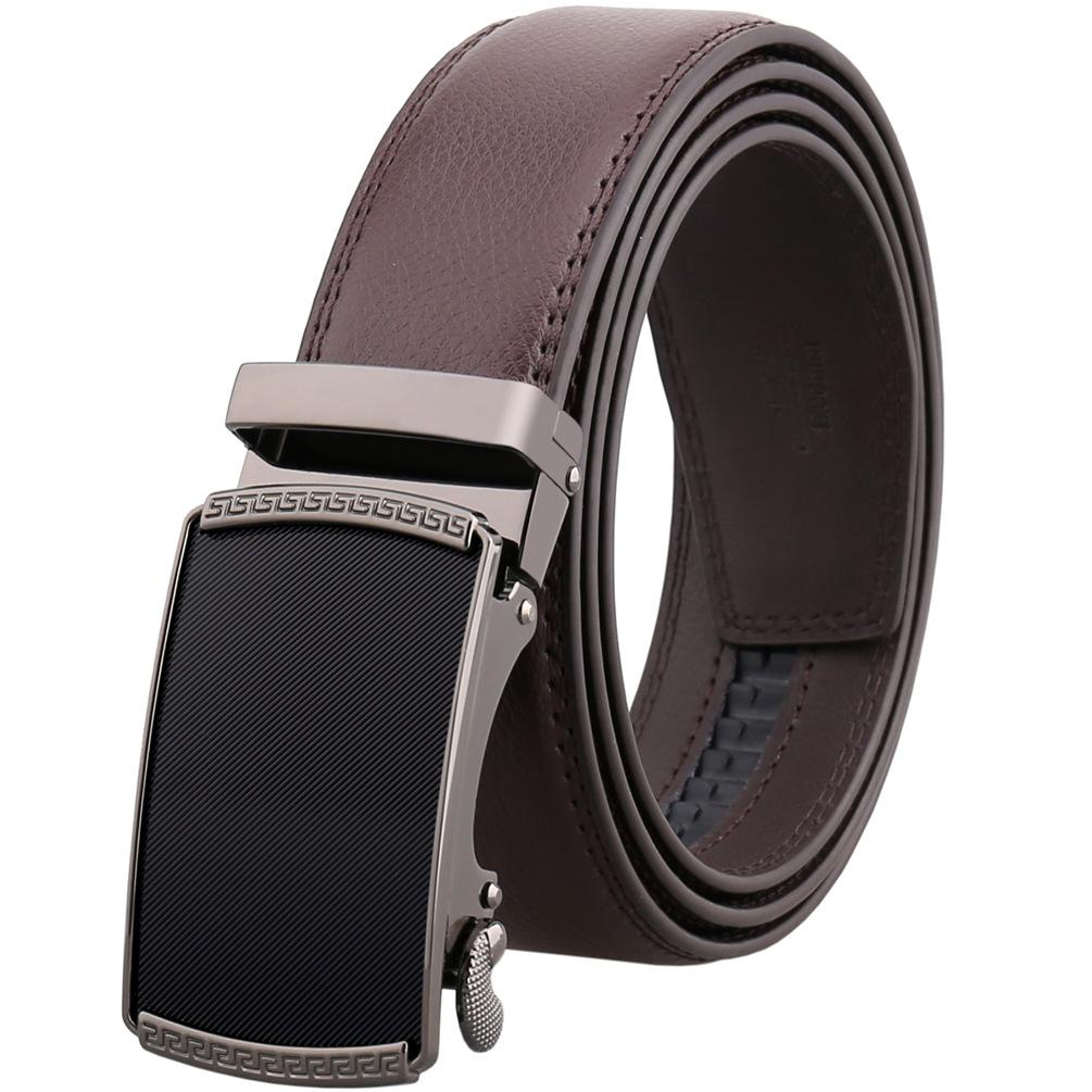 Amedeo Exclusive Men's Brown Belt Brown Buckle Leather - Amedeo Exclusive