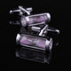 Men's Stainless Steel Pink Hour Glass Cufflinks Box