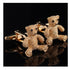 Mens Stainless Steel Gold Bears Cufflinks for Shirt with Box - Hand Crafted Perfect Gift