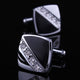 Men's Stainless Steel Cubic Zirconia Cufflinks Box