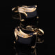 Stainless Steel Men's Exclusive Gold + Blk Squares Cufflinks