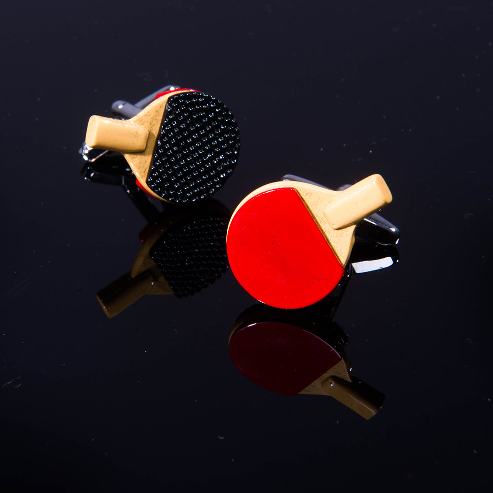 Men's Stainless Steel Colorful Table Tennis Cufflinks with Box - Amedeo Exclusive