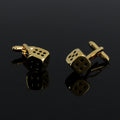 Men's Gold Dice Gambling Pair Cufflinks Presentation Gift Box & Polishing Cloth
