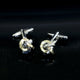 Men's Stainless Steel Gold & Black Knots Cufflinks with Box