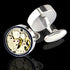 Men's Functioning Movement Stainless Steel Cufflinks