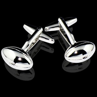 Men's Stainless Steel Football Cufflinks with Box