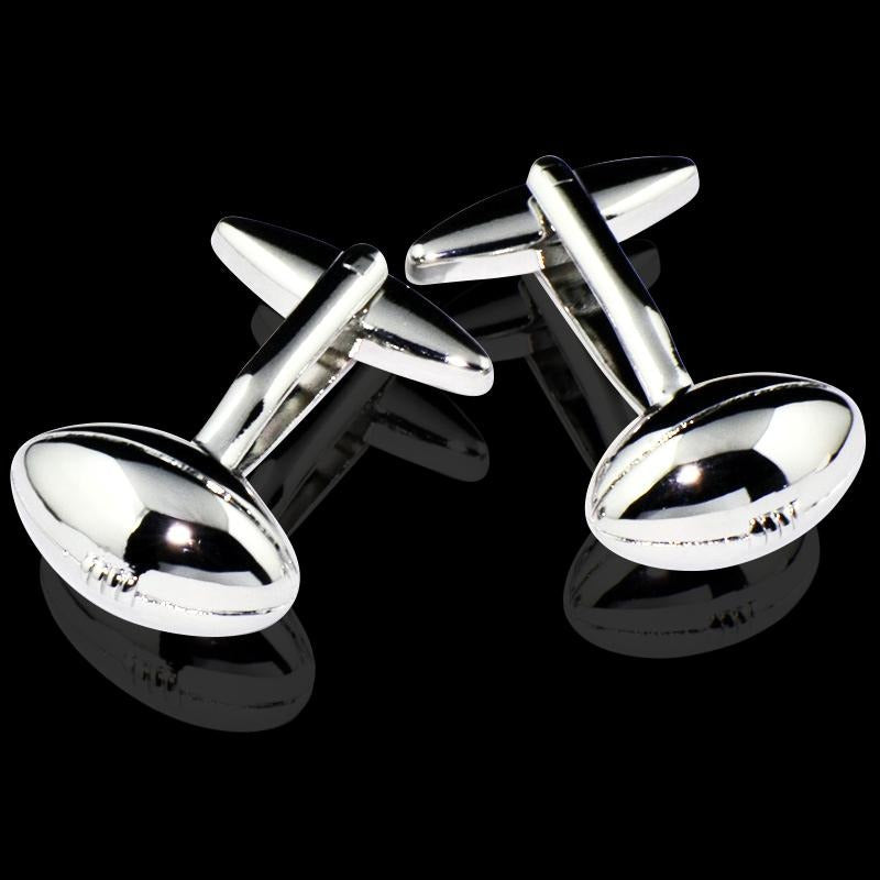 Men's Football Stainless Steel Cufflinks