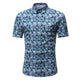 Men's Button down Tailor Fit Soft 100% Cotton Short Sleeve Dress Shirt Turqouise Multi Color check casual And Formal