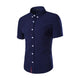 Men's Navy Blue Slim Fit Dress Shirt
