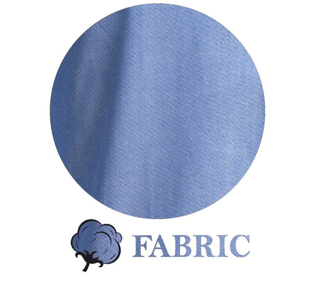 Blue Men's Slim Fit French Cuff Dress Shirts with Cufflink Holes - Casual and Formal - Amedeo Exclusive