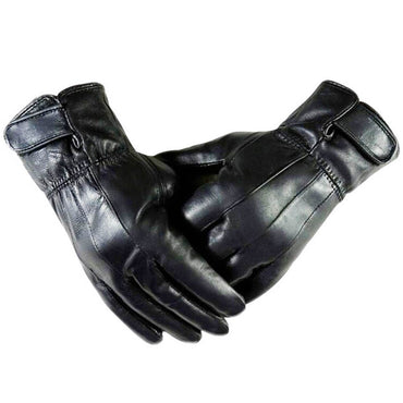 Full Finger Unisex Soft Leather Touchscreen Gloves for Easy Texting & Driving - Amedeo Exclusive