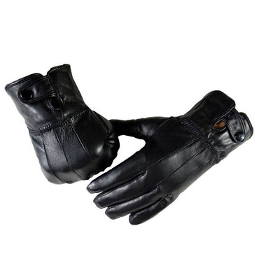 soft leather gloves full hand touchscreen cold weather men's women's - Amedeo Exclusive
