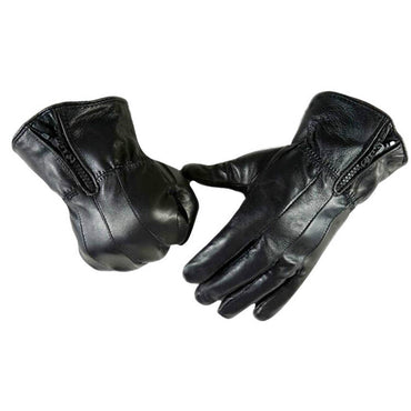 soft Black leather gloves full hand touchscreen cold weather men's women's - Amedeo Exclusive