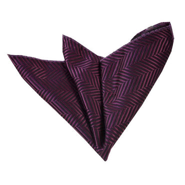 Men's Solid Purples Lines Handkerchief