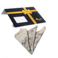 Men's Cream Paisley Pocket Square Hanky Handkerchief - Amedeo Exclusive