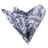 Pocket White with Navy Blue Paisley Hanky Handkerchief-Amedeo Exclusive