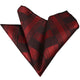 Men's Red Check Pocket Square Hanky Handkerchief - Amedeo Exclusive
