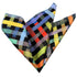 Pocket Multi Colored Check Hanky Handkerchief-Amedeo Exclusive