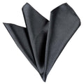 Amedeo Exclusive Jacquard Woven Silk Solid Charcoil Grey Handkerchief