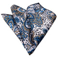 Pocket Square Hanky Handkerchief - Turquoise Blue White Lines