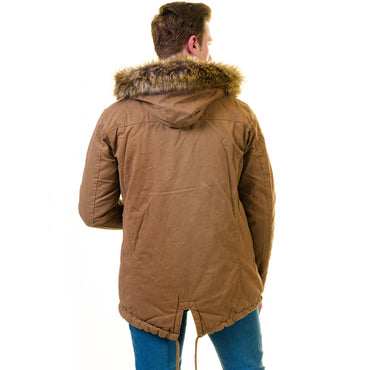Men's European Brown Wool Coat Hooded Jacket Tailor fit Fine Luxury Quality Work and Casual