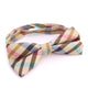Men's Light Brown Colorful Silk Pre-Tied Bow Tie - Amedeo Exclusive